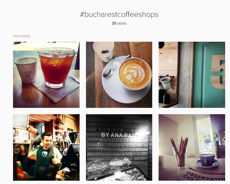 Intagram Hastag Coffee Shops