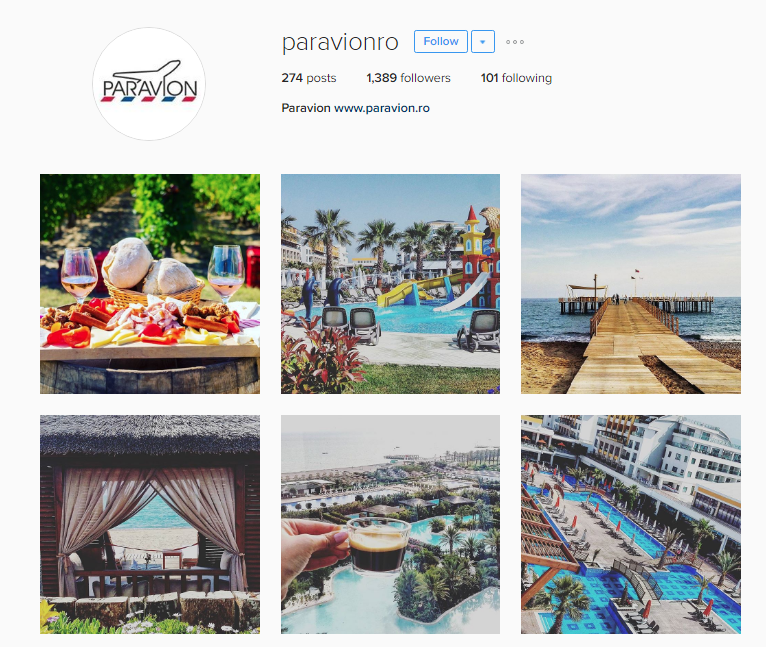 Paravion Instagram feed